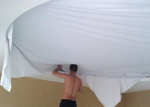 Крепление ткани в багет
