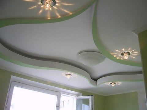 Криволинейное углубление на потолке