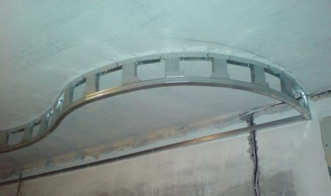 Криволинейный каркас с вертикальными стойками