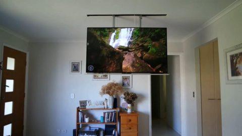 Кронштейны для телевизора потолочные могут полностью прятаться в потолок