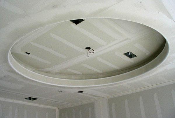 Круглая ниша на потолке