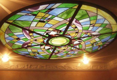 Круглый потолочный светильник