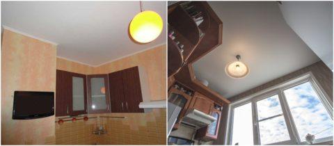 Кухонные потолки с побелкой