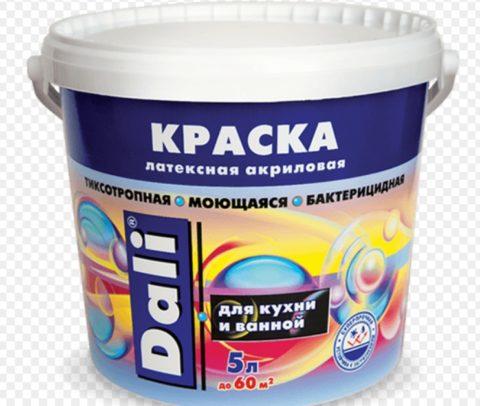 Латексная акриловая краска для потолков и стен отличается надежностью