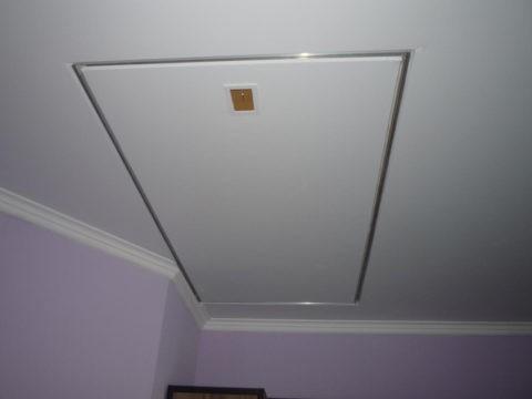 Лючок в натяжном потолке