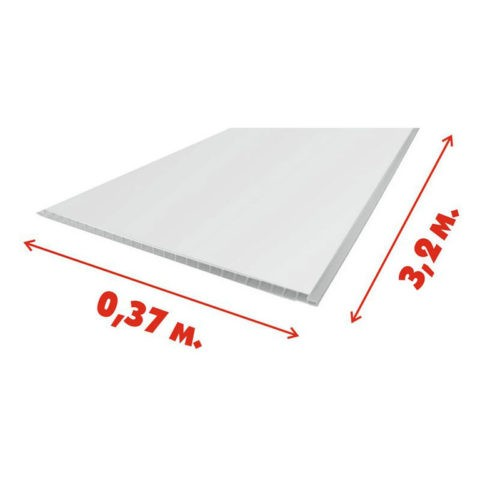 Максимальная ширина ПВХ-панели — 37 сантиметров