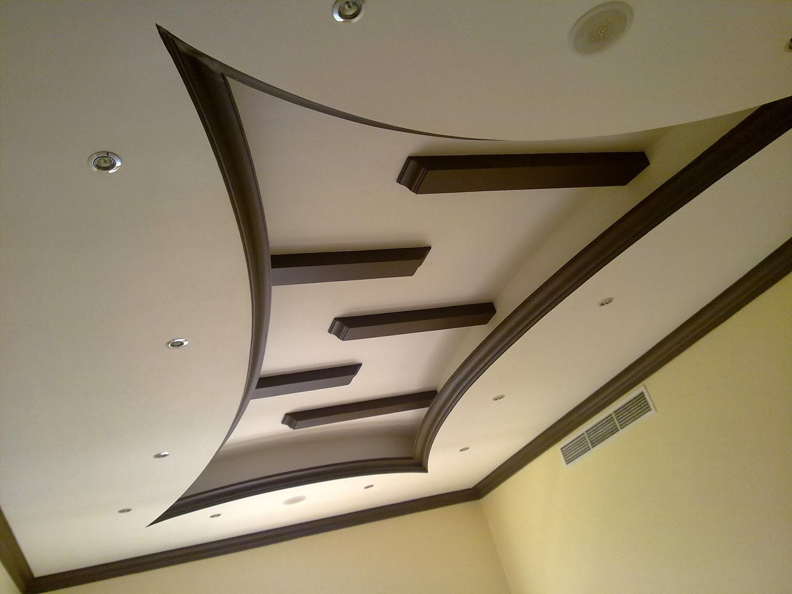 фигура потолков из гипсокартона