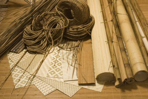 Материалы из натурального бамбука