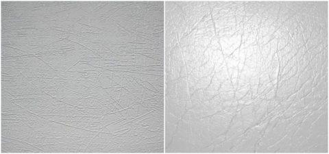 Матовая и глянцевая поверхность