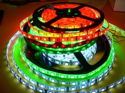 Монохромные (одноцветные) светодиодные ленты