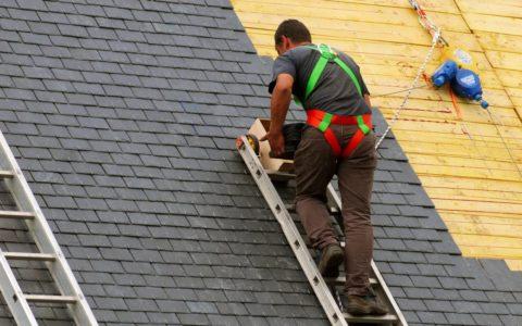 Монтаж битумной черепицы на крышу