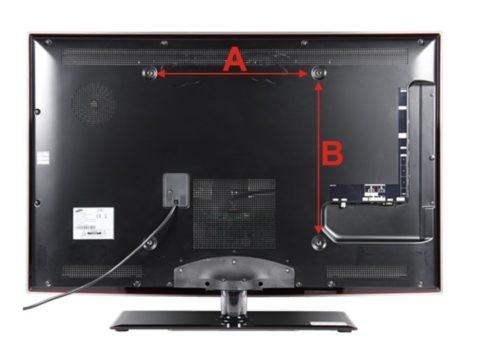 Монтажные отверстия на задней крышке телевизора