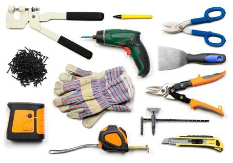 Набор инструментов для установки гипсокартона