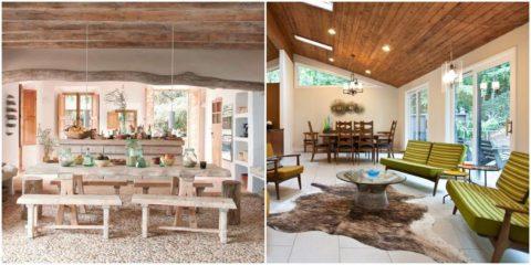 Натуральная древесина одинаково органично смотрится в современных и кантри-стилях