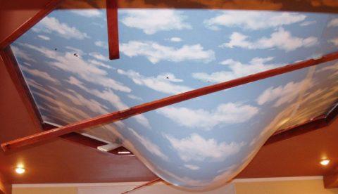 Натяжное пленочное полотно спокойно выдерживает протечку воды