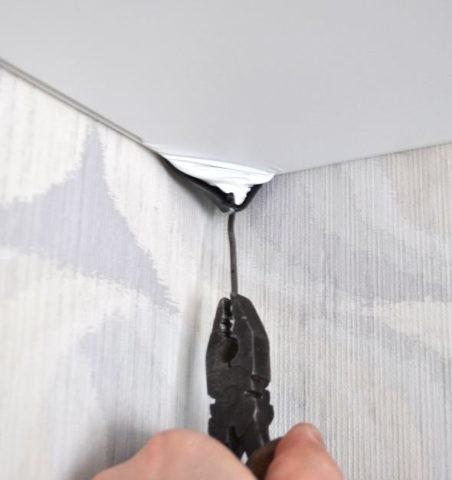 Натяжной потолок - демонтаж