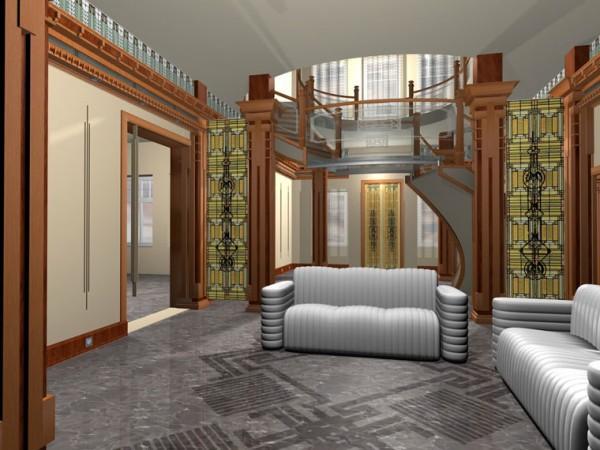 Натяжной потолок в комнату: гостиная