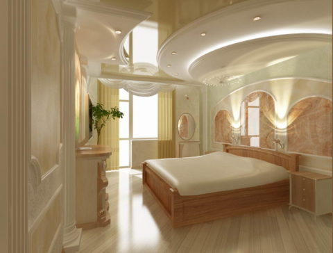 В классической спальне