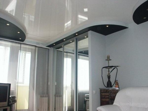 Натяжной потолок с глянцевым полотном