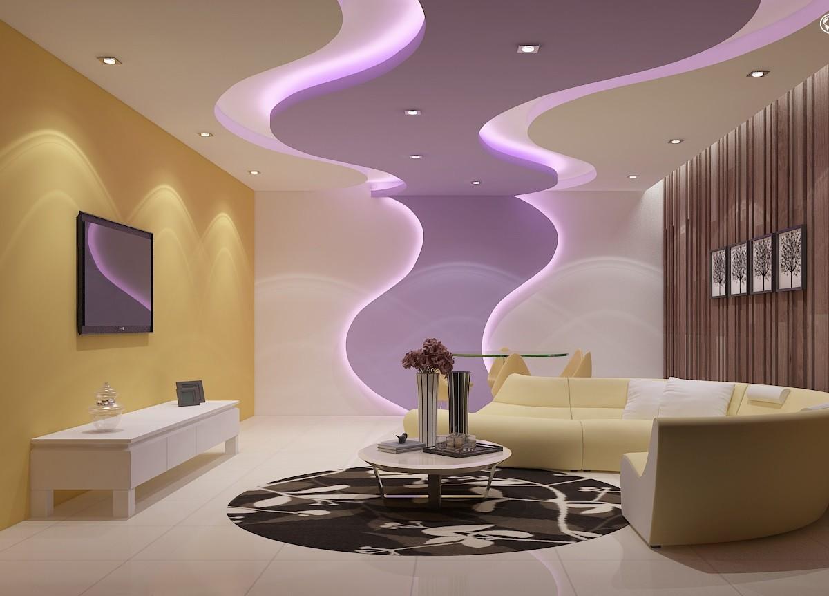 Дизайн спальни с нишами из гипсокартона фото омска