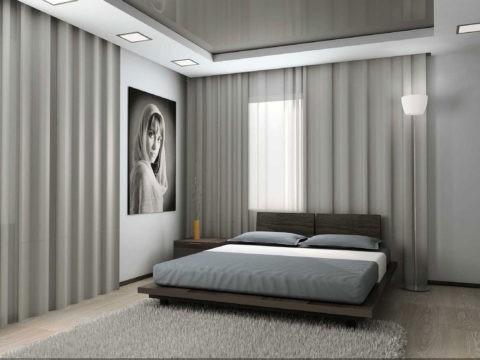 Нейтральная цветовая гамма в спальне