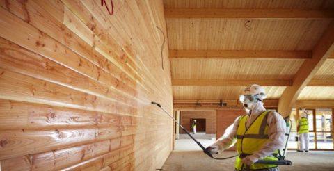 Обработка древесины пропитками