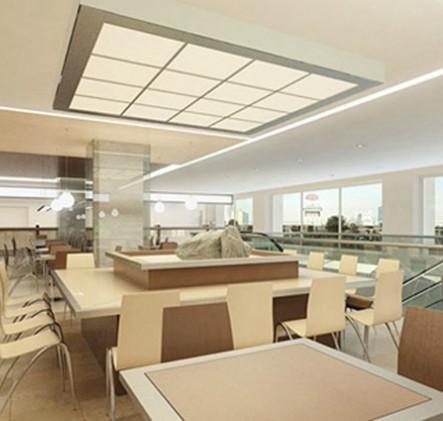 Подвесной потолок со светодиодным освещением