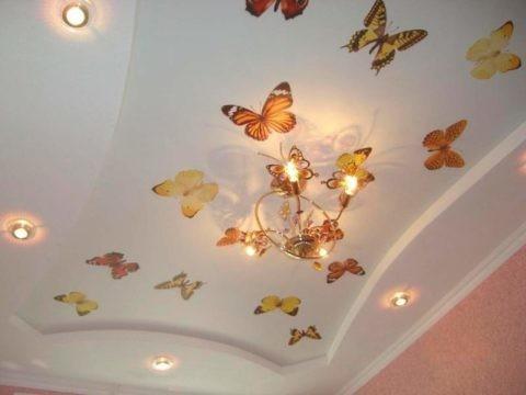 Оформление «Бабочки» с помощью трафаретов