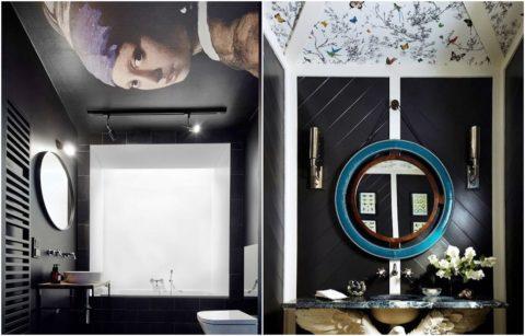 Оформление интерьера ванной комнаты влагостойкими виниловыми покрытиями