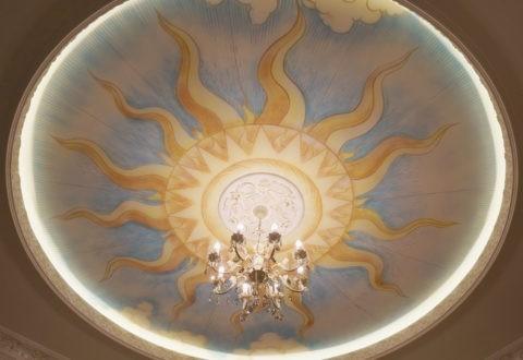 Оформление купола на подвесном потолке