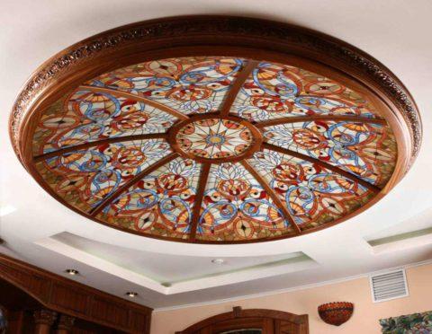 Оформление подвесного потолка из гипсокартона