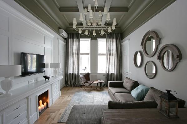 Окрашенный гипсокартонный потолок – идея для дизайна