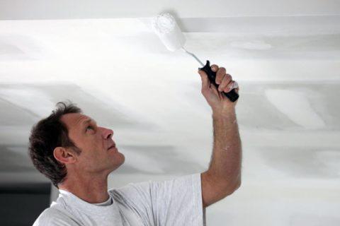 Окрашивание белой краской