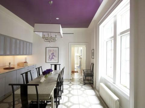 Окрашивание потолка на кухни