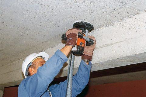 Перекрытие придется зачистить до бетона