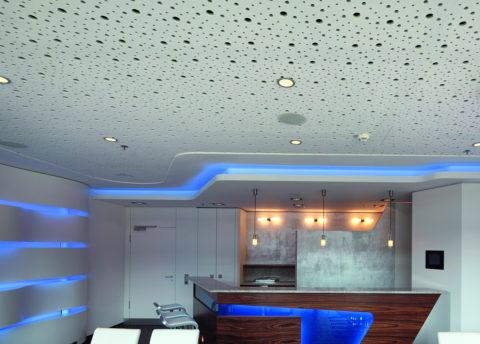 Перфорированный потолок из гипсокартона