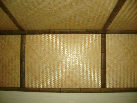 Плетеная бамбуковая панель