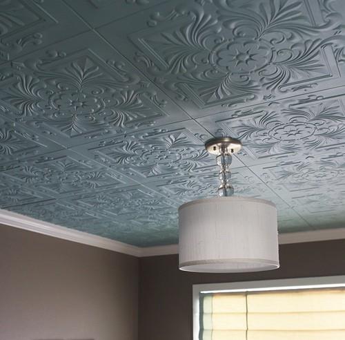 Плиточный дизайн потолка