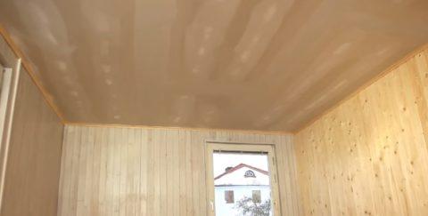 Подготовленный потолок