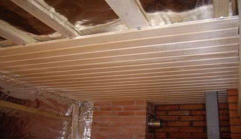 Подшивка чистового потолка