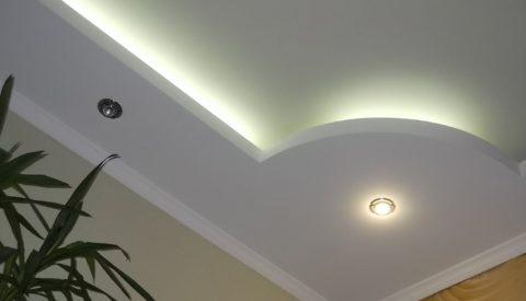 Подсветка позволяет подчеркнуть оригинальность конструкции