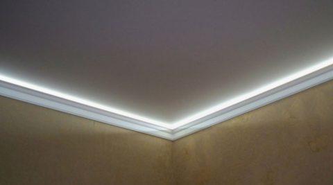 Подсветка преображает даже самое простое помещение