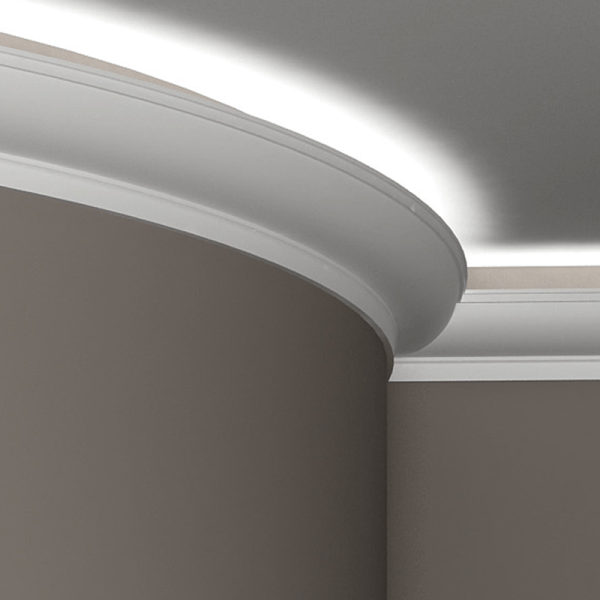 Подсветка за потолочным плинтусом