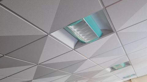 Подвесной объемный алюминиевый потолок