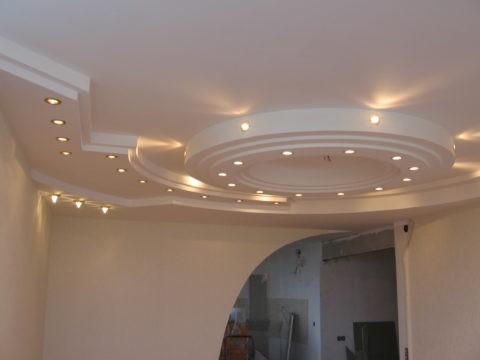 Подвесной потолок. Материал — гипсокартон