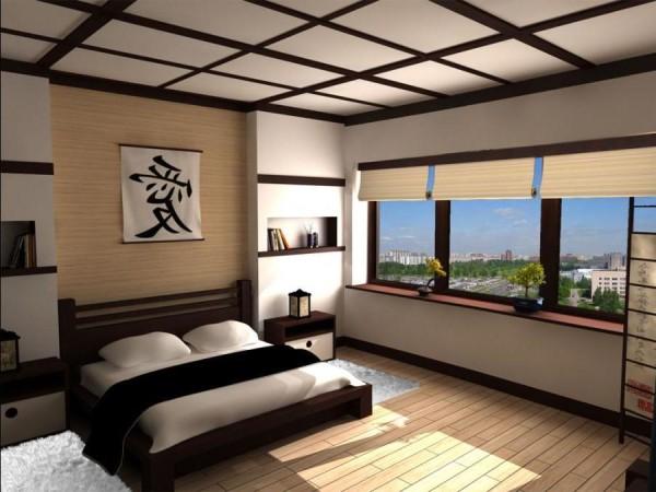 Подвесной потолок в японском стиле