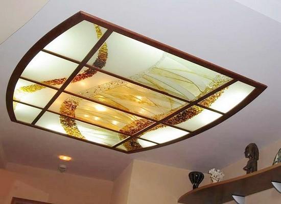 Оригинальный акриловый потолок с пескоструйным узором