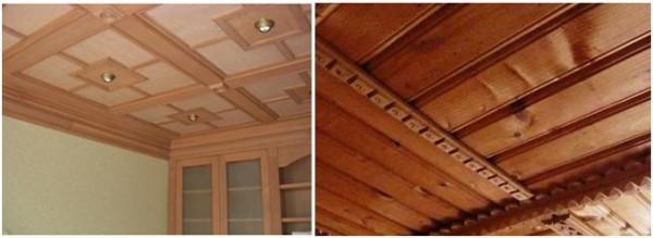 Подвесные потолки из шпоновых и натуральных деревянных панелей
