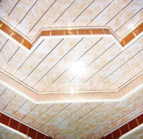 Потолки подвесные из ПВХ: из пластика можно собрать и многоуровневую конструкцию