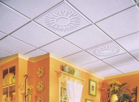 Потолочная плитка — доступный материал